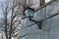 Outdoor wall lantern Stock Photos