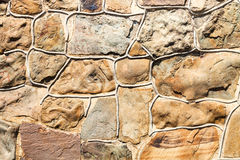 Outdoor wall from natural stones Royalty Free Stock Photography