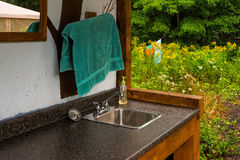 Outdoor wash basin Stock Photo