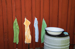 Outdoor wash place Royalty Free Stock Photo