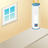 Outdoor Water Heater Royalty Free Stock Photos