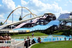 Outdoor Water Park Royalty Free Stock Photos