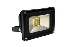 Outdoor Waterproof LED Floodlight Isolated On White Royalty Free Stock Photography