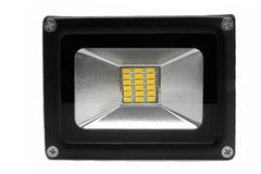 Outdoor Waterproof LED Floodlight Isolated On White Stock Photography