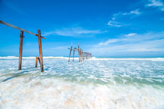outdoor, way, sunlight, island, thailand, coast, natural, tropical, cloud, white, travel, view, pier, sand, holiday, sunny, horizo Stock Photo