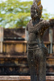 Outdoor Weathered Buddha Statue Polonnaruwa Ruins Royalty Free Stock Images