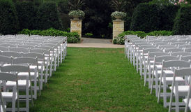Outdoor wedding. In  a park Royalty Free Stock Photo