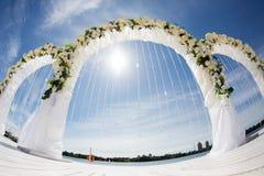 Outdoor wedding on the beach Stock Photos
