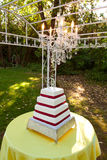 Outdoor Wedding Cake Stock Photo