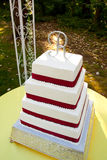Outdoor Wedding Cake Stock Photos