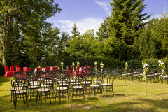 Outdoor wedding in the castle Royalty Free Stock Photography