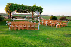 Outdoor wedding ceremony canopy Royalty Free Stock Photo