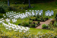 Outdoor wedding ceremony site Royalty Free Stock Image