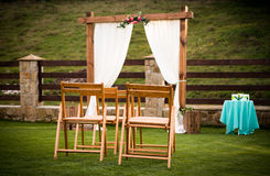 Outdoor wedding ceremony Stock Images