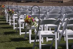 Outdoor Wedding Chairs Royalty Free Stock Image