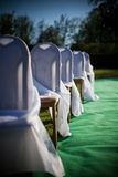 Outdoor wedding decoration Royalty Free Stock Images