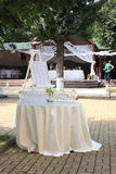 Outdoor wedding decoration Stock Photo