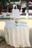 Outdoor wedding decoration Stock Images
