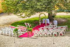 outdoor wedding place Stock Photo