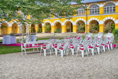 outdoor wedding place Royalty Free Stock Images