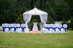 Outdoor wedding place Royalty Free Stock Photography