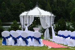 Outdoor wedding place Royalty Free Stock Photo