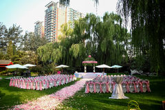 Outdoor wedding Scene Stock Images