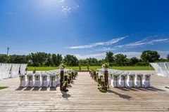 Outdoor wedding Scene Royalty Free Stock Image