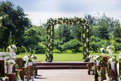 Outdoor wedding Scene stock images