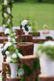 Outdoor wedding Scene Royalty Free Stock Photography