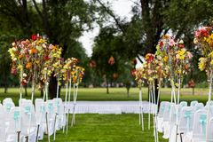 Outdoor wedding Scene Stock Photo