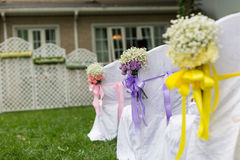 Outdoor wedding Scene Royalty Free Stock Photo