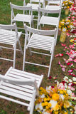 Outdoor wedding Scene Stock Image