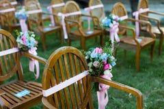 Outdoor wedding Scene Royalty Free Stock Image