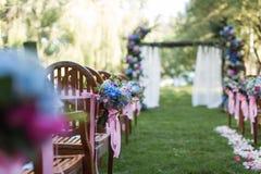 Outdoor wedding Scene Royalty Free Stock Photos