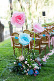 Outdoor wedding Scene Stock Photos