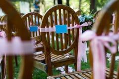 Outdoor wedding Scene Stock Photography