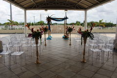 Outdoor wedding set up Royalty Free Stock Photo