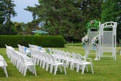 Outdoor Wedding setup Stock Photography
