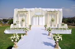 Outdoor Wedding Stage Royalty Free Stock Photos