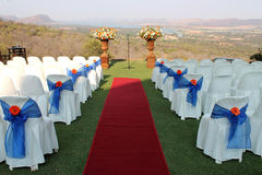 Outdoor wedding venue Stock Photos