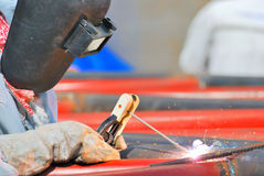 Outdoor welding Royalty Free Stock Photography