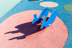 Outdoor whale-shaped play toy Royalty Free Stock Photo
