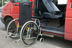 Outdoor wheelchair access to transport patient Royalty Free Stock Photos