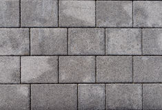 Outdoor white grey concrete block floor background and texture Royalty Free Stock Images