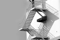 Outdoor white steel stair Stock Image