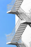Outdoor white steel stair Royalty Free Stock Image