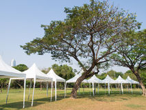 Outdoor White Tent Royalty Free Stock Images