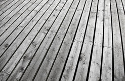 Outdoor white wooden floor Royalty Free Stock Photo