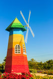 Outdoor wind turbines. Royalty Free Stock Photo